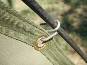 "Safari tent hook, also known as ""thumb splitters"""