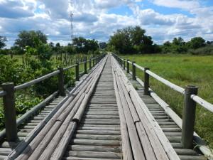 Bridge over the River Khwai.