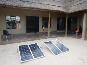 Khwai Village shop with solar power for the fridges.