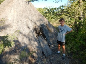 Traditional San (Bushman) house, built on the property of Planet Baobab.