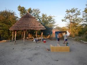 "Our Planet Baobab campsite. Not nearly as ""wild"" as Nxai Pan but fun nonetheless."